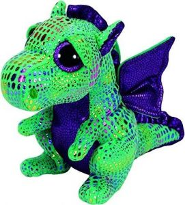 TY Beanie Boos - Cinder - zelený drak   37052  - 24 cm plyšák