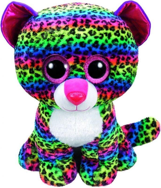 TY Beanie Boos - Dotty - barevný leopard 36837 - 42 cm plyšák