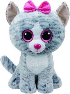 TY Beanie Boos - Kiki - šedá kočka   36838  - 42 cm plyšák