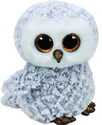 TY Beanie Boos - Owlette - bílá sova 37086 - 24 cm plyšák