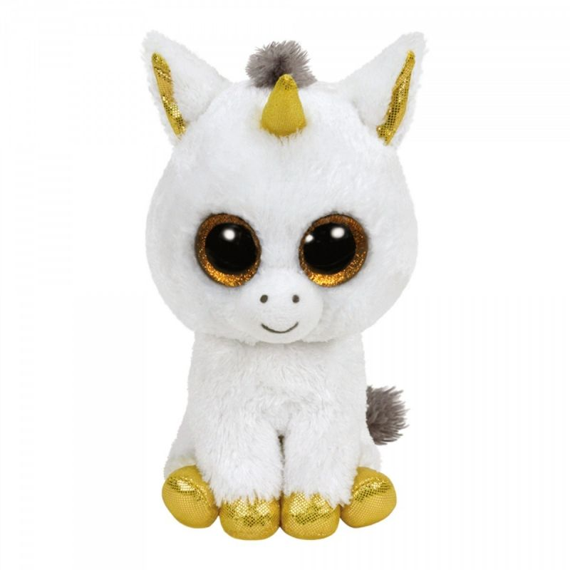 TY Beanie Boos - Pegasus - bílý jednorožec 36179 - 15 cm plyšák