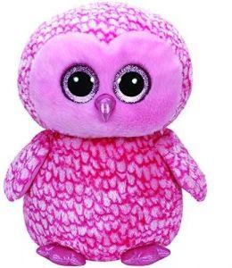 TY Beanie Boos - Pinky - růžová sova  36608  - 42 cm plyšák