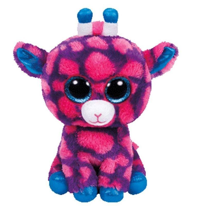 TY Beanie Boos - Sky High - růžová žirafa 39824 - 24 cm plyšák