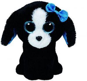 TY Beanie Boos - Tracey - černo-bílý  pejsek  37191 - 15 cm plyšák