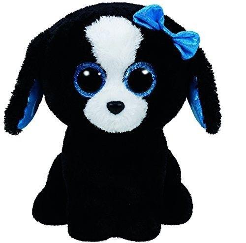 TY Beanie Boos - Tracey - černo-bílý pejsek 37076 - 24 cm plyšák