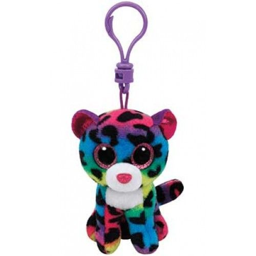 TY - Plyšový přívěšek - barevný leopard Dotty s velkýma očima 8,5 cm