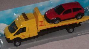 TEAMA - auto odtahovka s plošinou  3.ass  1:48  - žlutá barva
