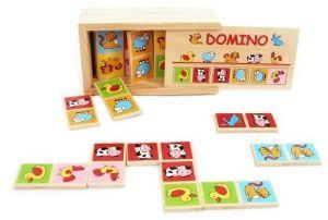 Dřevěné domino v dřevěné krabičce - zvířátka