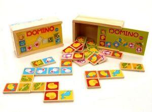 Dřevěné domino v dřevěné krabičce - zvířátka  II