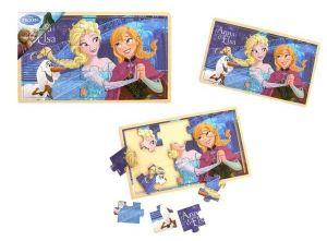 Dřevěné puzzle  15 dílků  30 x 18 cm - Frozen