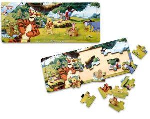 Dřevěné puzzle PLAYME - Medvídek Pů   21 dílků