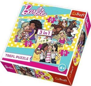 TREFL Puzzle  3v1 -  20 36 50 dílků   Barbie   34827
