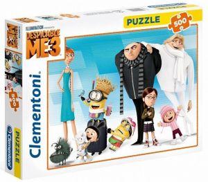 CLEMENTONI Puzzle 500 dílků -  Mimoni - Já Padouch 3  35044