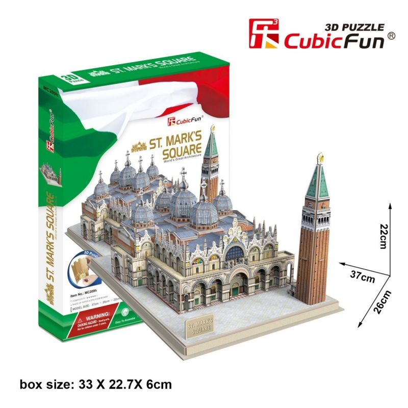 CubicFun 3D puzzle - náměstí Sv. Marka + palác Benátky 107 dílků - 20209 Cubic Fun