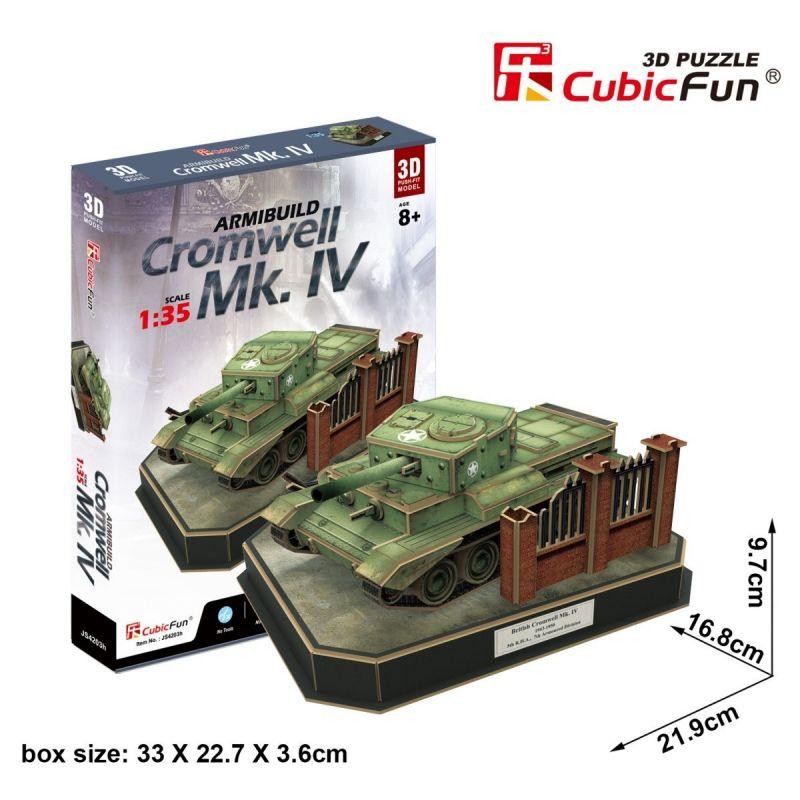 CubicFun 3D puzzle - tank British Cromwell 157 dílků - 24203 Cubic Fun