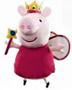 Prasátko Peppa  - plyšák PEPÍNA   - princezna  35 cm - Peppa Pig