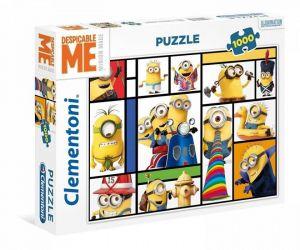Puzzle Clementoni 1000 dílků - Mimoni - koláž   39407