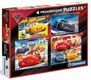 Puzzle Clementoni  - 20, 60, 100 a 180 dílků  - CARS - Auta 3   07714
