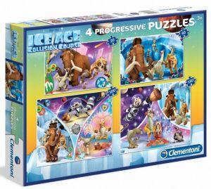 Puzzle Clementoni  - 20, 60, 100 a 180 dílků  - Doba Ledová  07713
