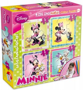 puzzle Lisciani  Baby  4 x 3 dílky  ZIG ZAG oboustranné  Minnie Mouse 40698