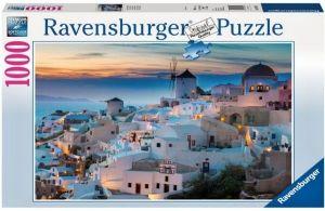 Puzzle Ravensburger 1000 dílků - večer v Santorini    196111