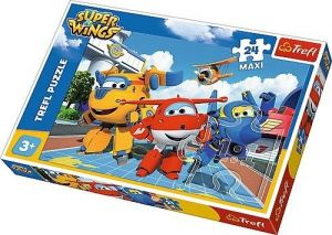 Puzzle Trefl 24 MAXI dílků  - Super Wings - veselá letadla  14252
