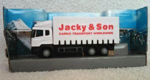 TEAMA - kamión Scania  1:87  - bílá barva - (jacky)