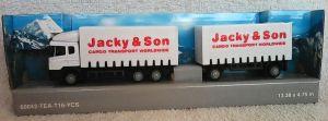 TEAMA - kamión Scania s přívěsem   1:87  - bílá barva - (jacky)