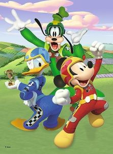 TREFL 20 dílků mini-MAXI - Mickey Mouse - závodníci   21027