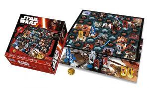 Trefl  hry 2v1 Star Wars - žebříky a hadi + člověče nezlob se  01378