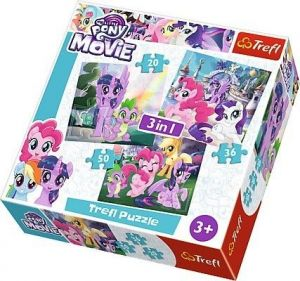 TREFL Puzzle  3v1 -  20 36 50 dílků My Little Pony   34823
