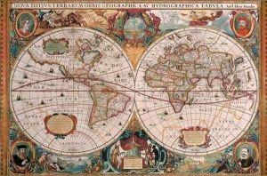 puzzle Ravensburger  5000 dílků  Historická mapa světa  174119