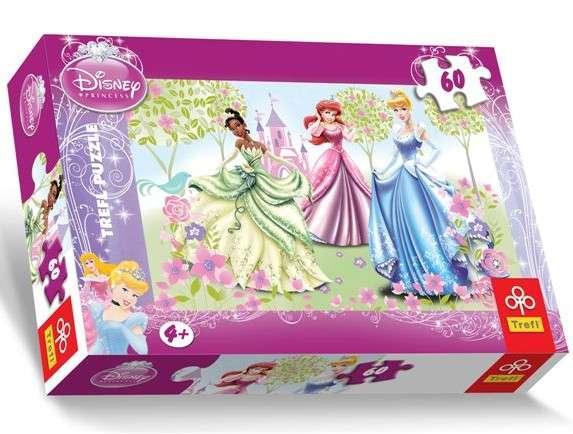 60 dílků - Princezny - puzzle Trefl 17191