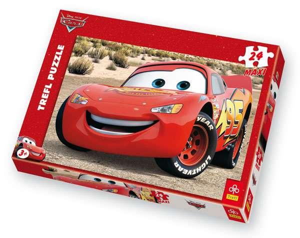 24 MAXI dílků - CARS Mc.Queen - puzzle Trefl 14082