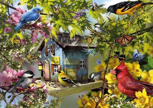 1000 dílků   Čas na jídlo - ptáci  -   puzzle Ravensburger