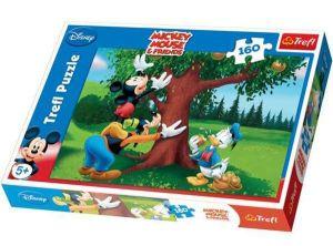 160 dílků - Mickey Mouse - šťavnatá  jablíčka  -  puzzle   Trefl