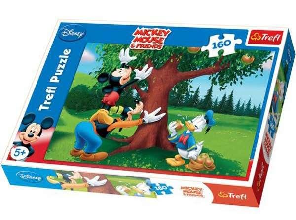 160 dílků - Mickey Mouse - šťavnatá jablíčka - puzzle Trefl 15206