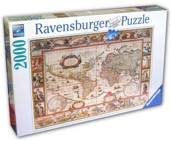2000 dílků Mapa světa - puzzle Ravensburger 166336