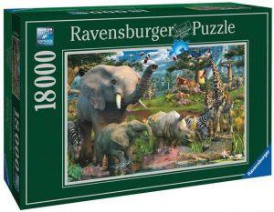 Puzzle Ravensburger 18000 dílků  Zvířata u napajedla  178230