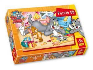 60 dílků - Tom a Jerry  -  puzzle   Trefl  -
