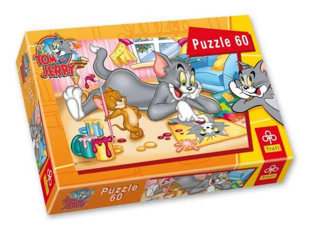 60 dílků - Tom a Jerry - puzzle Trefl 17159