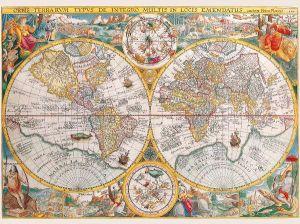 1500 dílků  Historická mapa světa  -  puzzle Ravensburger