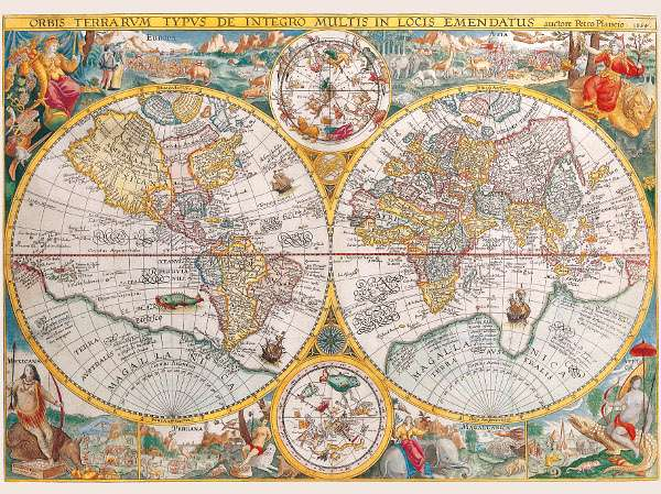 1500 dílků Historická mapa světa - puzzle Ravensburger 163816