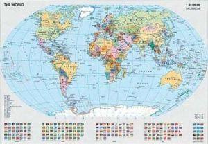 1000 dílků   politická mapa světa  -   puzzle Ravensburger