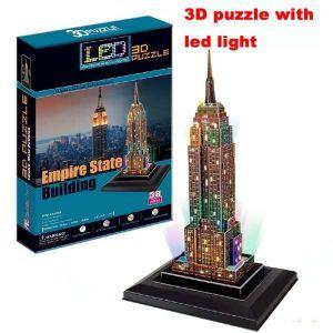 3 D Puzzle CubicFun - Empire State Building  38 d. LED  - svítící