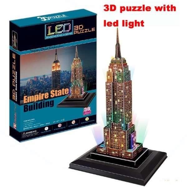 3 D Puzzle CubicFun - Empire State Building 38 d. LED - svítící Cubic Fun