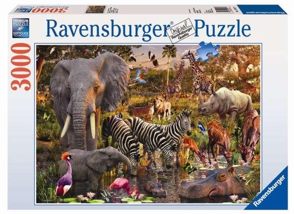 puzzle Ravensburger 3000 dílků Africká zvířata 170708