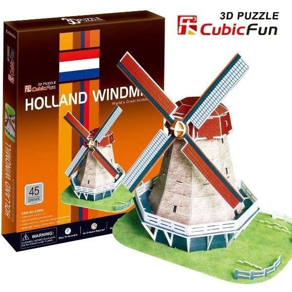 3 D Puzzle CubicFun - Holandský větrný mlýn 45 d. Cubic Fun