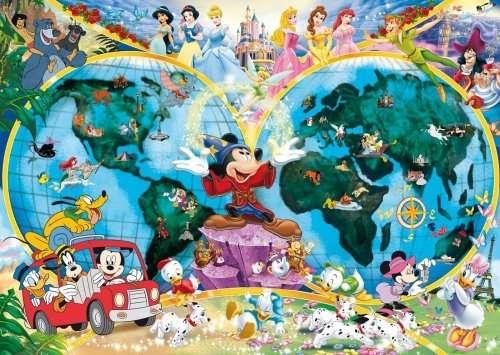 1000 dílků Disney - mapa světa - puzzle Ravensburger 157853