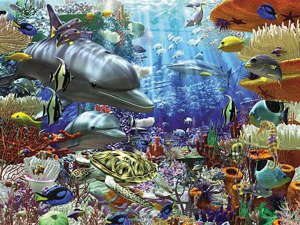 puzzle Ravensburger 3000 dílků Život pod vodou 170272